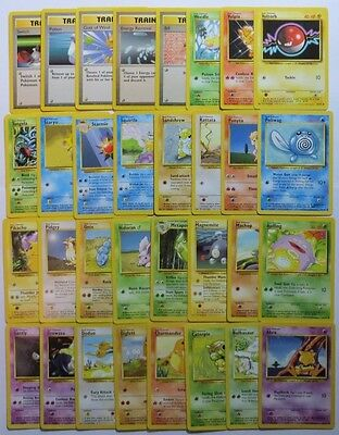 BASE SET Complete Common Pokemon Cards Set