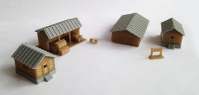 Outland Models Train Railway Layout Country Farm House Shed Cottage Set N Scale