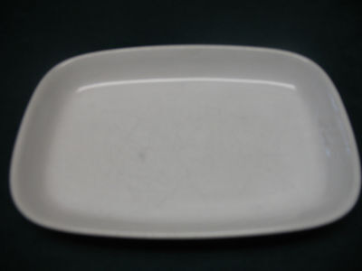 """FRONTIER AIRLINES Food Tray Plate  Made In Japan ceramic 7.5""""x5""""x1"""""""