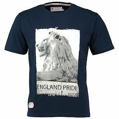 Adult Large England Classic Collection Lion T shirt Navy M2