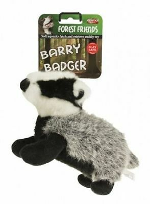 Animal Instincts Plush Soft Dog Chew Toy Barry Badger Large