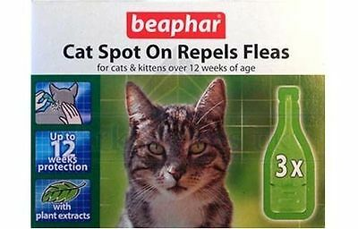 Beaphar Herbal Flea 12 Week Drops Spot On Treatment for Cats Kittens Repel Fleas