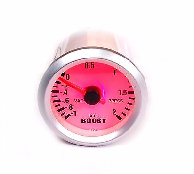S4 52mm Turbo Boost gauge 2 BAR Red bk-light Seat Leon Ibiza Cupra Cordoba