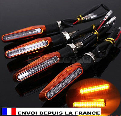 4 clignotants moto scooter quad universel 12 led