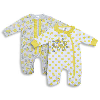 Baby Girls Sleepsuit Romper Babygrow 100% Cotton Newborn Fill Polka Dot Flower