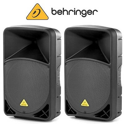 """Behringer B115D 1000W 2-Way 15"""" Active Portable DJ Disco Stage PA Speaker (Pair)"""