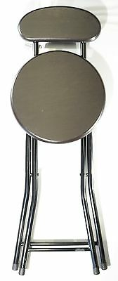 "New Wee's Beyond 18"" H Folding Wooden Stool with Back in Expresso # 1212-ES"