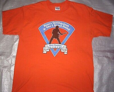 BRUCE SPRINGSTEEN 2003 SHEA STADIUM SHOW No 1 METS ORAGET SHIRT LARGE