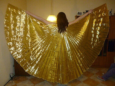 isis wings, bauctanz isis scleier , belly dance isis wings gold , wings of isis