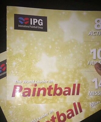 20 Paintball tickets