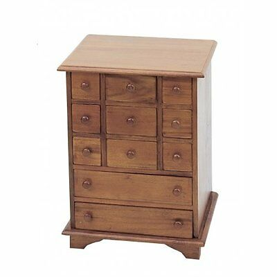 11 Drawer Apothecary/Spice Chest Mahogany Finish HL10