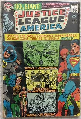 Justice League of America #58 Giant (1967 DC 1st series) GD- cond 49 years old.