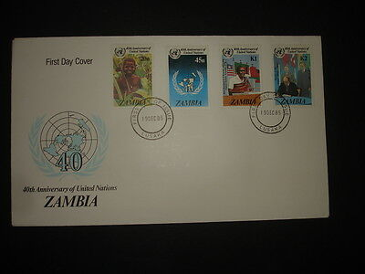 Zambia : 1985 United Nations : Pictorial FDC