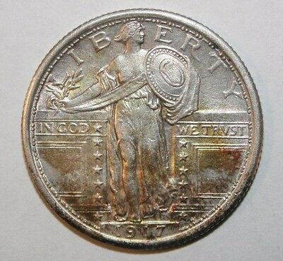 1917 Type 1 Standing Liberty Silver Quarter TY1