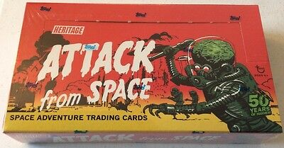 SEALED - NEW Topps Heritage Attack from Space Mars Attacks Card Box