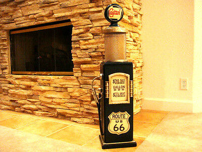 Route 66 Gas Pump Cabinet with Light. Dark Green.Mancave.Gameroom.
