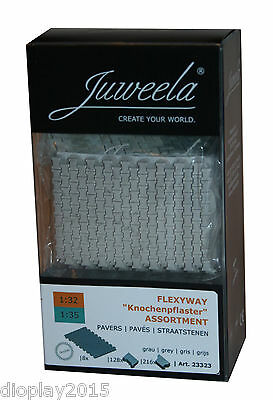 "Juweela® 1:32/35 Flexyway ""Knochenpflaster"" grau Assortment  Modellbau 23323"