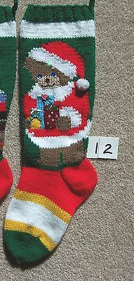 Nancy's Hand Knit Personalized Christmas Stocking - LITTLE BEAR or SANTA