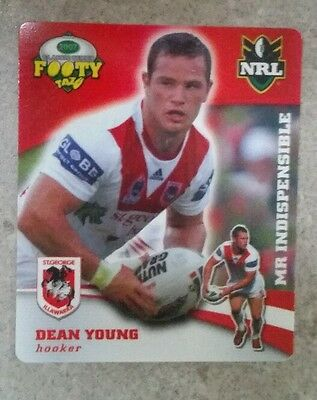 Smiths NRL tazos Dean Young St George Dragons