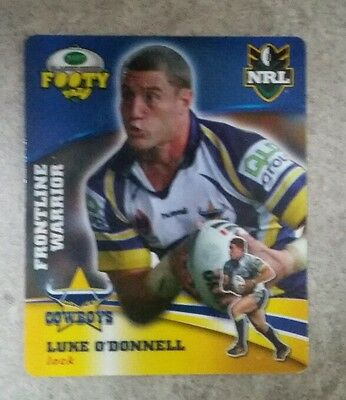 Smiths NRL footy tazos Luke O'Donnell North Queensland Cowboys