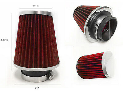 "RED 2.75 Inches 2.75/"" 70mm Inlet Cold Air Intake Cone Dry Filter For Buick"