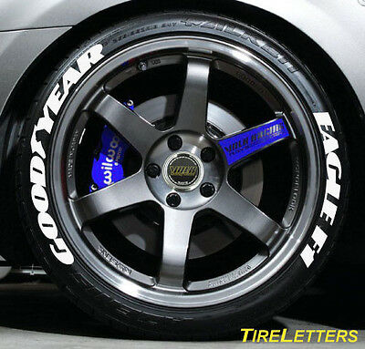 TIRE LETTERS - RAISED WHITE RUBBER LETTERING - goodyear eagle f1