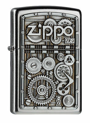 Zippo Lighter GEARS AND COGS RARE Zippo Cigarette lighter Collectable UK Seller