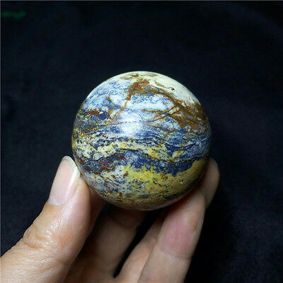 """193g 51mm natural polished """"pietersite"""" gem crystal ball to heal #40"""