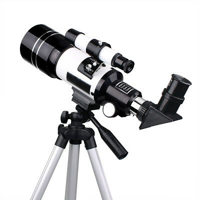 New 70mm Refractor Terrestrial&Astronomical Telescopes+Tripod+Eyepiece US Ship
