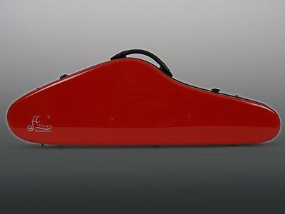 """Aileen """"AIR"""" Plastic Case case Case in New Design for 4/4 Violin, red"""