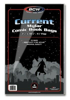 BCW BCW Mylar Current Comic Book Bags 4-MIL (25 St.)