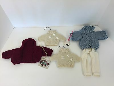 Lot 5 COTTAGE COLLECTIBLES + Other Vintage Hand Knit Beaded Sweaters Pants NWT