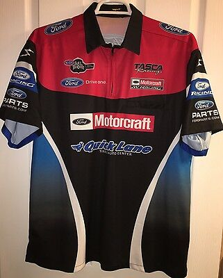 XL BOB TASCA RACING NHRA Pit Crew Shirt Drag Nitro FUNNY CAR FORD MOTORCRAFT