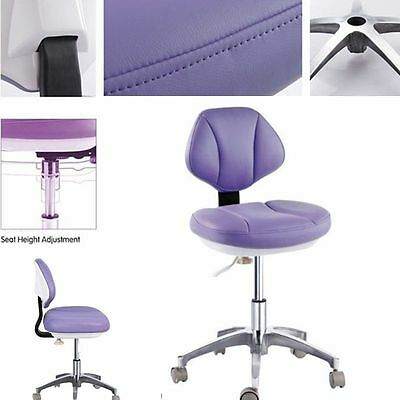 Microfiber Leather Dental Stool Doctor's Assistant Stools Medical Mobile Chair
