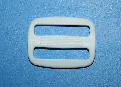 "4 X 25mm 1"" White Plastic Tri Glide Triglide Slider Buckles- Belt Bag Strap"