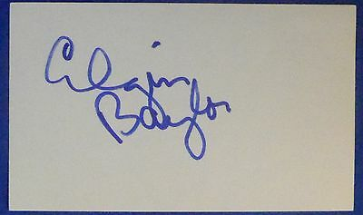 ELGIN BAYLOR HOF autograph signed 3x5 index Minn Los Angeles Lakers 1958-72