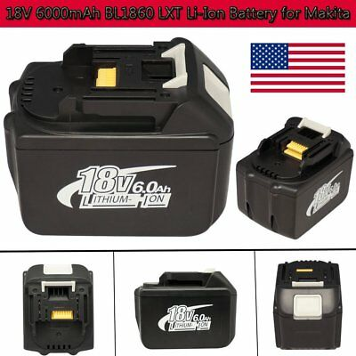 6000mAh 6.0Ah BL1860 LXT Lithium-Ion Replace Compact Battery for Makita 18V