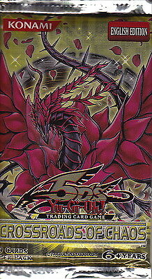 YU-GI-OH - 'Crossroads of Chaos' Booster Card Packs (20) #NEW