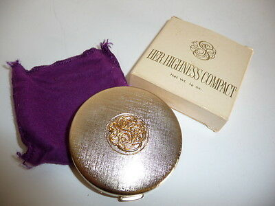 Studio Girl Her Highness Compact w/ Mirror Goldtone w/ Box