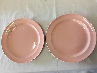 TS&T LURAY Pastels 2 TWO PINK SALAD Dessert PLATES Taylor Smith & Taylor ART