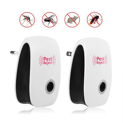 ABS Electronic Ultrasonic Anti Pest Bug Mosquito Cockroach Mouse Killer Repeller