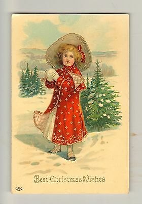 """""""Best Christmas Wishes"""" Christmas Card - 1907"""