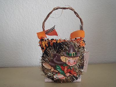 Vintage Style Halloween Witch Treat Cup Ooak