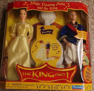 The King and I Doll Set by Playmates 1999 NRFB 2 Dolls Magic Dancing Anna & King