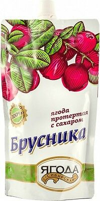 mashed cowberries,Siberian berry NATURAL JAM cowberry, made Russia, 280g,варенье
