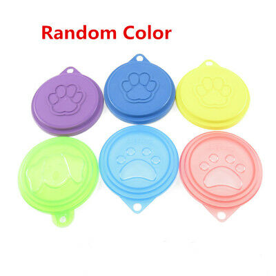 2/3/5X Pet Food Can Cover Lids Dog Cat Pets Tin Plastic Reusable Covers Caps Top