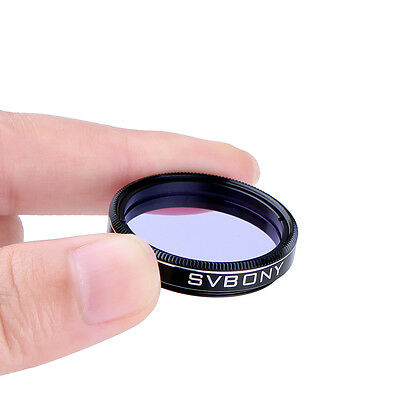 "Moon&Skyglow Light Pollution Filter 1.25"" for Telescope Eyepiece Blue Glass Lens"