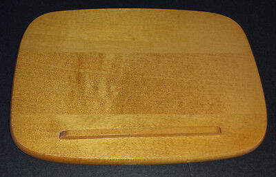"LONGABERGER WOODCRAFTS LARGE RECIPE BASKET LID ONLY ~ 8 1/2"" x 6 1/8"" ~VERY GOOD"