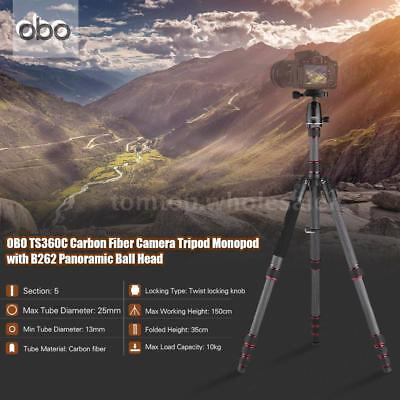 "OBO Carbon Fiber 61"" Professional Tripod Monopod with Ball Head for DSLR Cameras"
