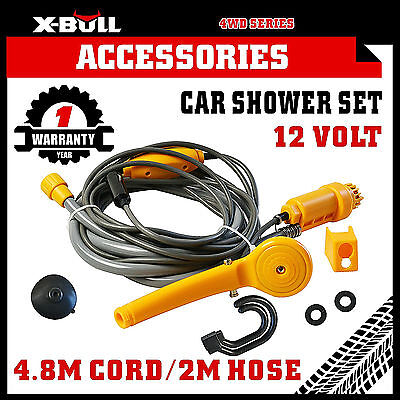 X-BULL12V Portable Automobile Shower Set Water Pump Travel Camp Boat Car Caravan